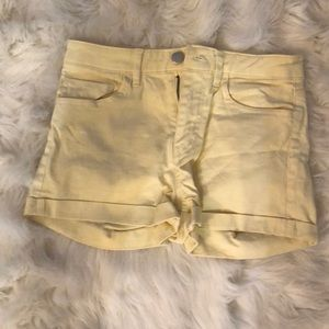 Yellow h and m shorts